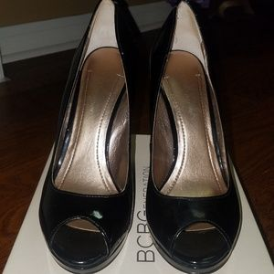 BCBG Peep Toe Pumps